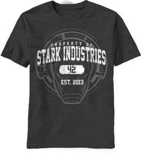 Marvel Men's Iron Man 3 Stark Industries T-Shirt