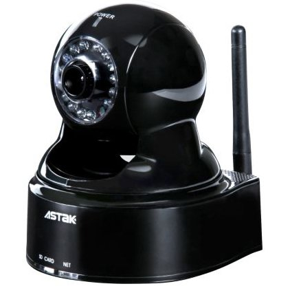 Astak Wireless IP Network Camera, Night Vision, 2-Way Audio, 802.11b/g, Motion Detection, You can View it from your iPhone and Upload your video to YouTube Directly.