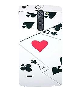 PrintVisa Gambler Hearts Design 3D Hard Polycarbonate Designer Back Case Cover for LG G3 STYLUS