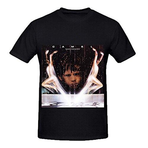 Camel Rain Dances Soundtrack Men Crew Neck Screen Printed T Shirts Black (East German Rain Camo compare prices)