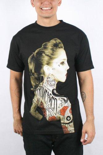 Rebel8 - Vintage Rosalie Mens T-shirt in Black, Size: XX-Large, Color: Black