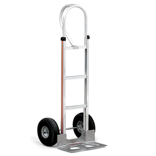 """Magliner Aluminum 60/"""" Wide Blade Hand Truck with Double Grip Handle"""