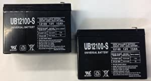 12V 10Ah Currie eZip 500, E-500, E500 Scooter Battery - 2 Pack