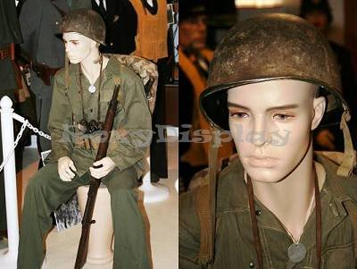 (Md-Kw15F) Male Mannequin, Realistic W/ Flesh Tone Color Including Stool,