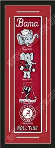 Heritage Banner Of Alabama Crimson With Team Color Double Matting-Framed Awesome... by Art and More, Davenport, IA