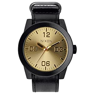 Nixon Corporal Watch Black/Gold, One Size