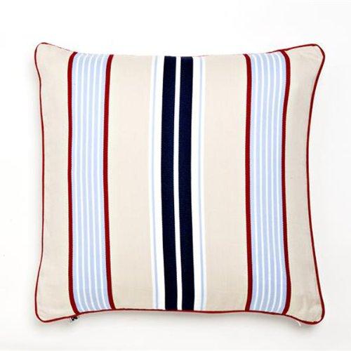 Khaki Preppy Stripe Decorative Pillow front-42230