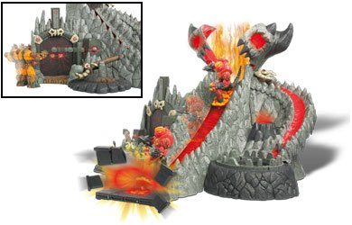 Gormiti Lords of Nature Return Flaming Volcano with 12cm Articulated Magmion