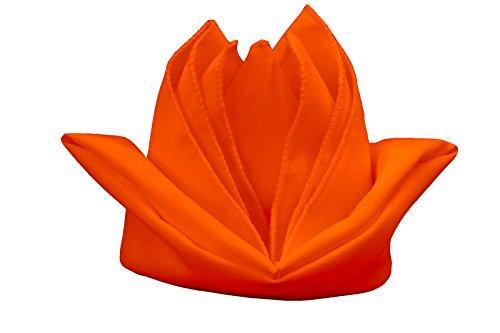 LA Linen 10-Pack Polyester Poplin Napkins, 18 by 18-Inch, Orange (Orange Cloth Dye compare prices)