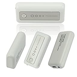 [20 packs]5600mAh Portable Power Bank, DC5V/1A External Mobile Battery Charger Pack for iPhone, iPad, iPod, Samsung Devices, Cell Phones, Tablet PCs(white-white)