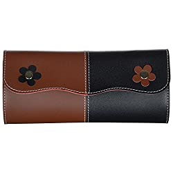 Designer Ladies Wallet-Tan Black