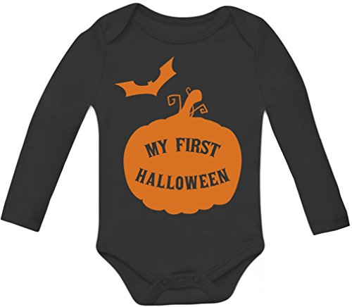 My First Halloween Baby Grow Vest - Cute Bodysuit Unisex Baby Long Sleeve Onesie
