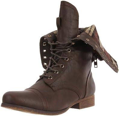 Madden Girl Women's Gemiini Boot,Brown,7 M US