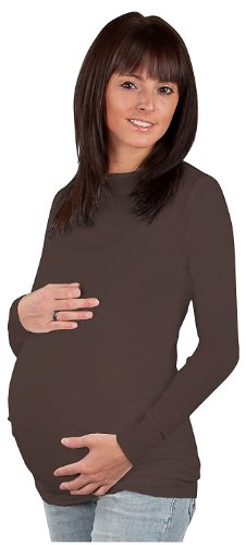 Zula Maternity Long Sleeve Tee - Expresso-X-Large