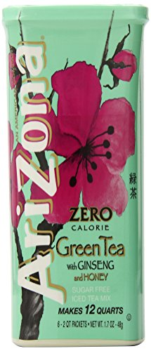 AriZona Sugar Free Green Tea with Ginseng & Honey Iced Tea Mix, 1.7-Ounce, 2 QT Stix in Canister (Pack of 4) (Arizona Ice Tea Stix compare prices)