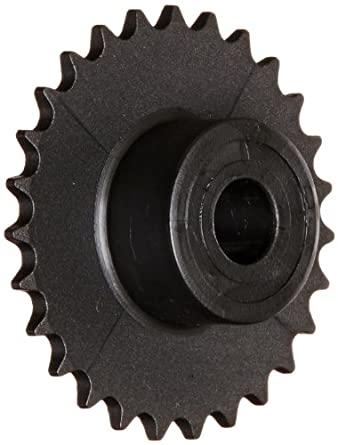 Boston Gear Roller Chain Sprocket, Bored-to-Size, Type B Hub, Single Strand