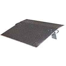 "Vestil E-4824 Aluminum Economizer Dockplate, 5200 lbs Capacity, 24"" Length, 48"" Width, 3"" Height Difference, 3/8"" Plate Thickness"