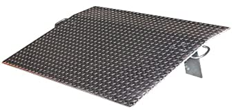 "Vestil EH-3630 Aluminum Economizer Dock Plate, 30"" Length, 36"" Width, 1/2"" Plate Thickness, 5,100-lb. Capacity"
