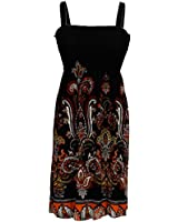 NY Deal Women's Smoked Tube Dress Cover Up