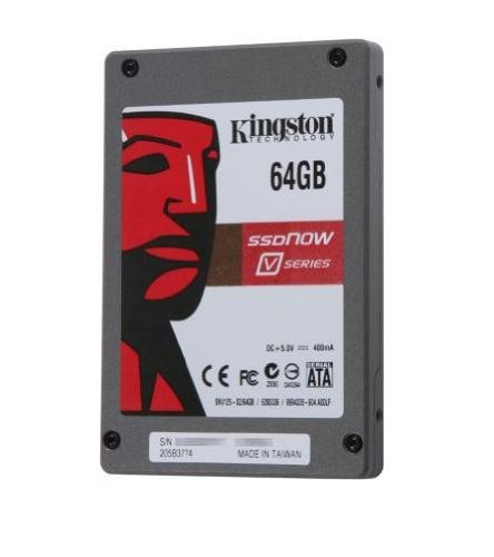 Kingston Technology 2.5 inch 64GB SSDNow V-Series SATA2 Drive Notebook Upgrade Kit
