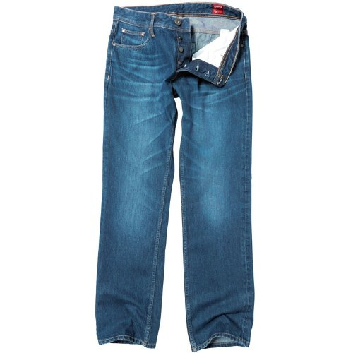 Duck and Cover Mens Zince Jeans Dark Wash