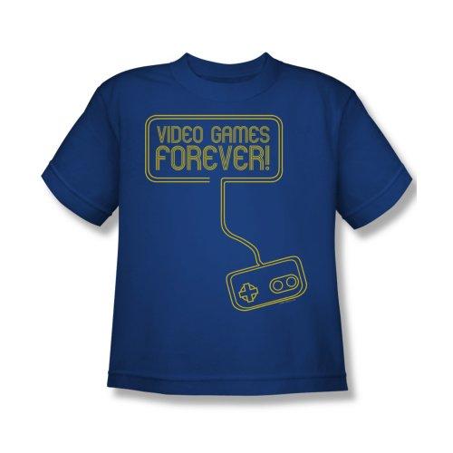 Video Games Forever Kids T-Shirt X-Large Royal Blue