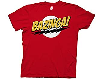 T-Shirt - Big Bang Theory - Bazinga! No Face, Red, S