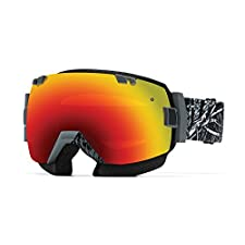 Smith SNMB I/OX Goggle Charcoal Stickfort with Red Sol-X Mirror Lens plus Bonus Clear Lens