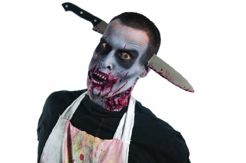 Rubie's Costume Zombie Shop Kitchen Knife-Thru-Head, Silver/Red/Black, One Size - 1