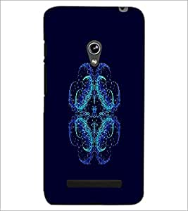 PrintDhaba Digital Flower D-2117 Back Case Cover for ASUS ZENFONE 5 A501CG (Multi-Coloured)