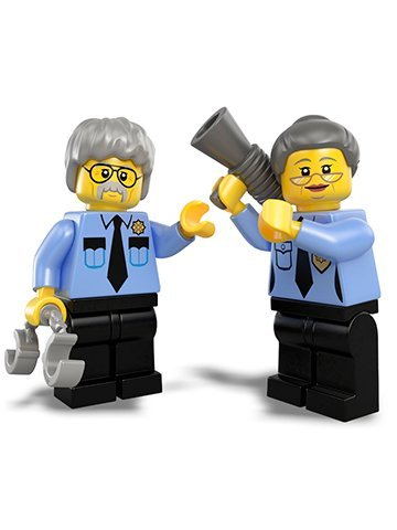 The Lego Movie LOOSE Minifigures Ma & Pa Cop Minifigures LOOSE - 1