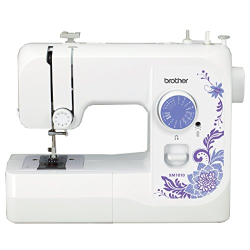 Brother XM1010 with 10 stitches, 4-Step Auto-Size Buttonholer, 4 Sewing', & instructional DVD (Bobbin Winder Brother compare prices)