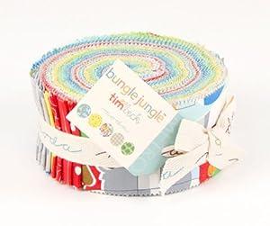 "Tim and Beck BUNGLE JUNGLE Jelly Roll 2.5"" Fabric Strips Moda 39500JR"