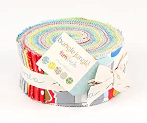 "Tim and Beck BUNGLE JUNGLE Jelly Roll 2.5"" Fabric Strips Moda 39500JR"