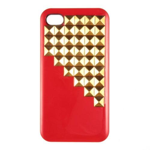 Di lusso con borchie piramidali Custodia rigida per iPhone 4 4S