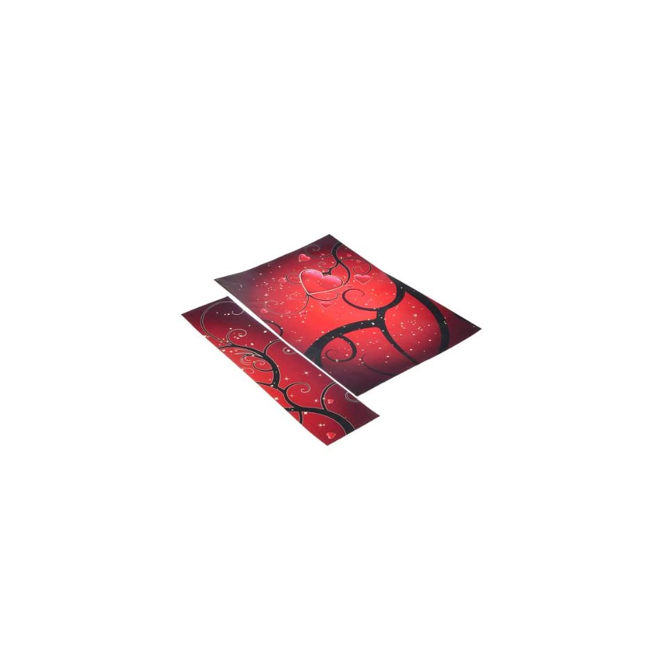 12 to 15 Red Heart Sticker Skin Cover For Acer Sony Dell HP Laptop Notebook