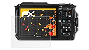 3 x atFoliX Schutzfolie Nikon Coolpix AW110 Displayschutzfolie - FX-Antireflex blendfrei