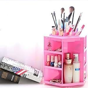 .com : Gran capacidad giratoria Acrílico organizador de maquillaje