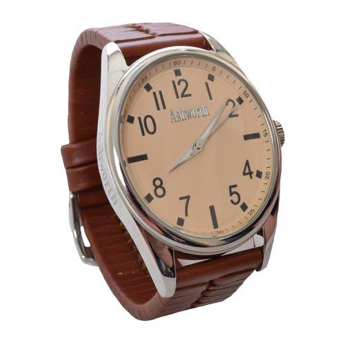 Ashworth Nassau Mens Brown Leather Strap Wrist Watch - ASG002B