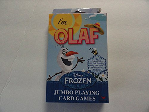 Disney Frozen Jumbo Playing Card Games - I'm Olaf