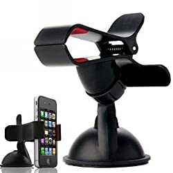 FlyStone Universal Dashboard Windshield Car Mount for Smart Phones, Apple iPhone 5 / 5S / 5C / 4 / 4S / 3G, Samsung Galaxy S2 / S3 / S4, Galaxy NOTE 2, Motorola Droid RAZR / MAXX, HTC EVO 4G, HTC One X, LG Revolution, GPS H