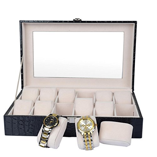 top-leather-12-slot-watch-box-watch-display-case-jewelry-box-watch-storage-with-safe-lock-and-transp