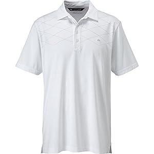 Travis Mathew Men's Pin Drop Shirt, White, Small