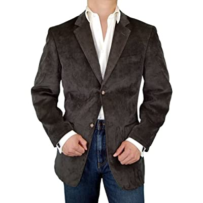 Executive 2-button Sport Coat Italian Velvet Corduroy Blazer Sportcoat Extra Soft Super 140's Fabric Brown
