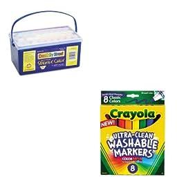 KITCKC1752CYO587808 - Value Kit - Creativity Street Sidewalk Chalk (CKC1752) and Crayola Washable Markers (CYO587808)
