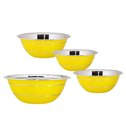 kosma-set-of-4-stainless-steel-mixing-bowl-salad-bowl-in-yellow-colour-exterior-and-mirror-finish-in