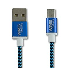 Wires That Work® Braided Micro USB Cable 4ft (1.2M) Premium High Speed USB 2.0 Cable A Male to Micro B Sync and Charging Cables for Samsung, HTC, Motorola, Nokia, Android, Sony, devices (Blue)
