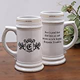 Personalized Ceramic Beer Stein &#8211; Choose Famous Quotes