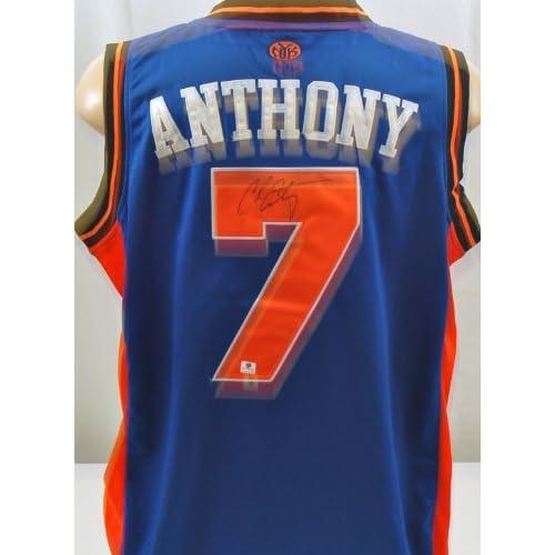 de5e86cb534f Autographed Carmelo Anthony New York Knicks Jersey Autographed NBA Jerseys