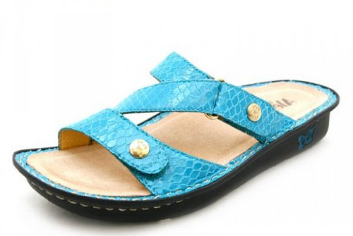 Alegria By PG Lite ALG-VEN-703 Ocean Blue Snake 40/10 Womens Sandals